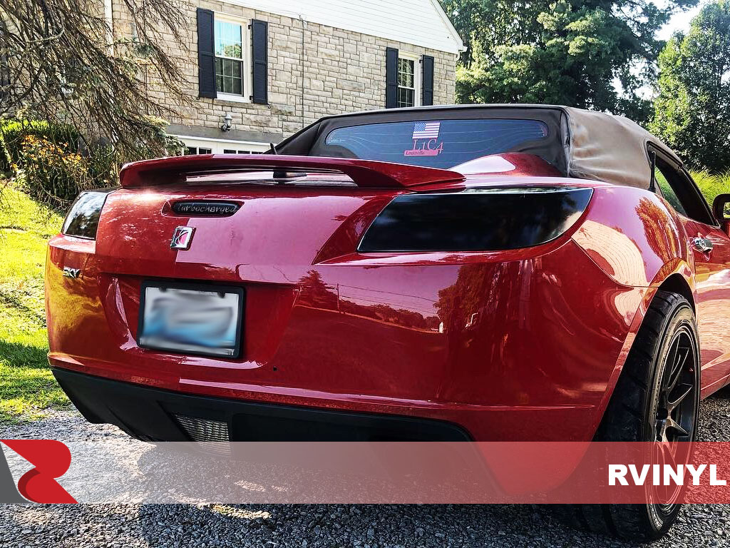 Rtint 2007 Saturn Sky Blackout Smoke Tail Light Tint