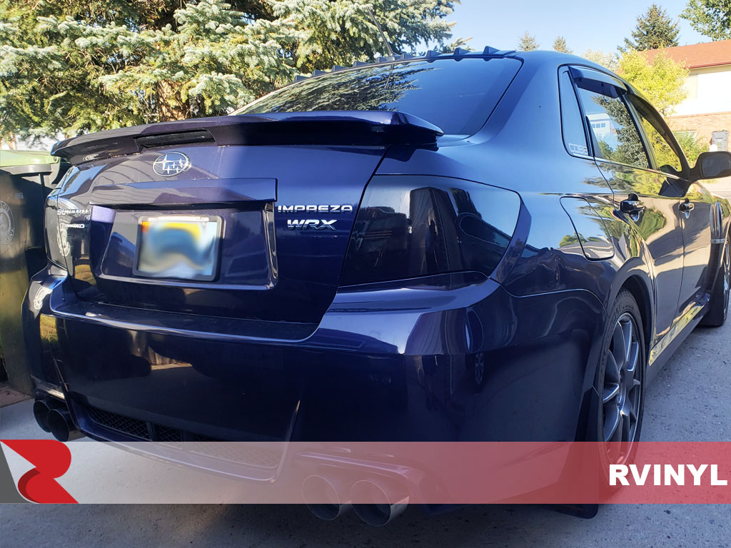 Rtint Impreza WRX Black Out Custom Tail Light Wrap
