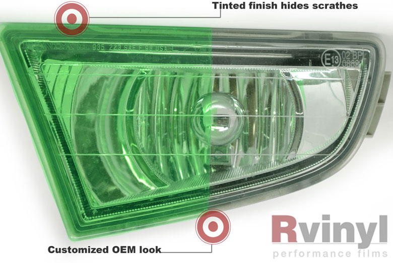 Green Tinted Headlight Film Wraps