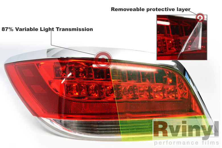 Neon Tinted Tail Light Film Wraps