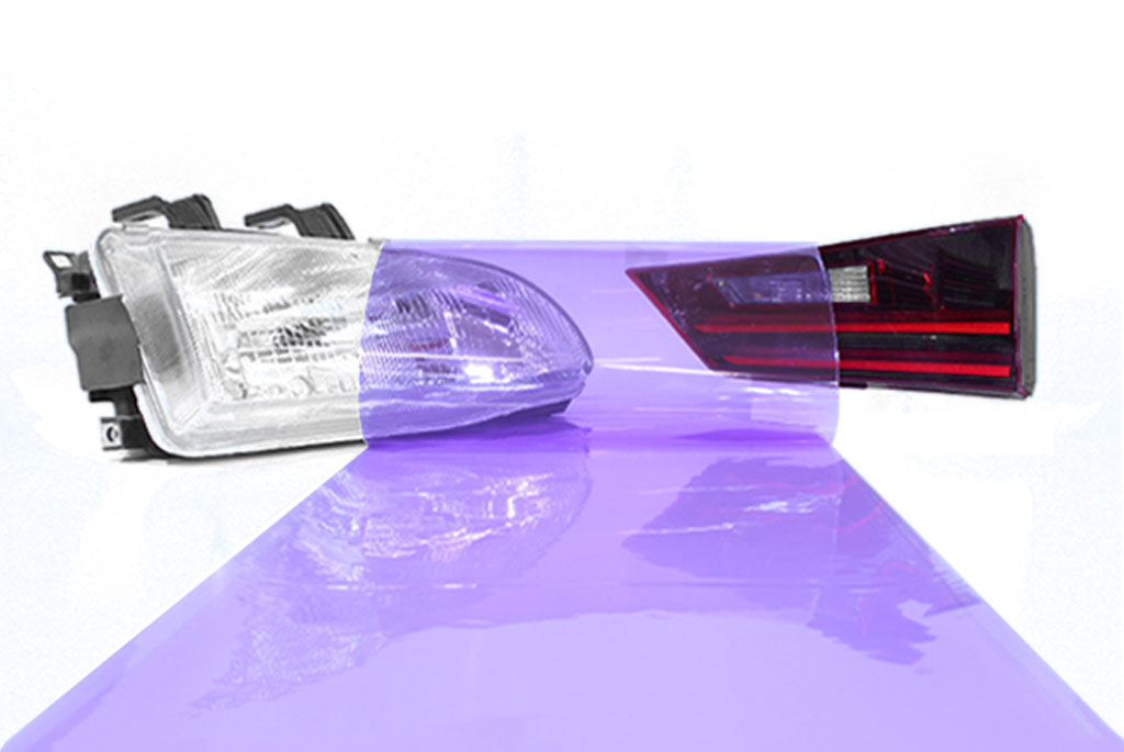 Purple Smoke Tint Car Light Wraps