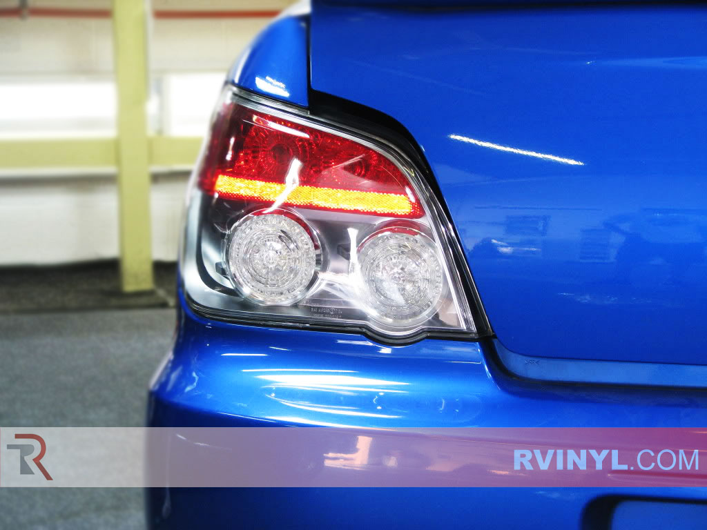 rtint subaru wrx sedan 2006 2007 tail light tint film. Black Bedroom Furniture Sets. Home Design Ideas