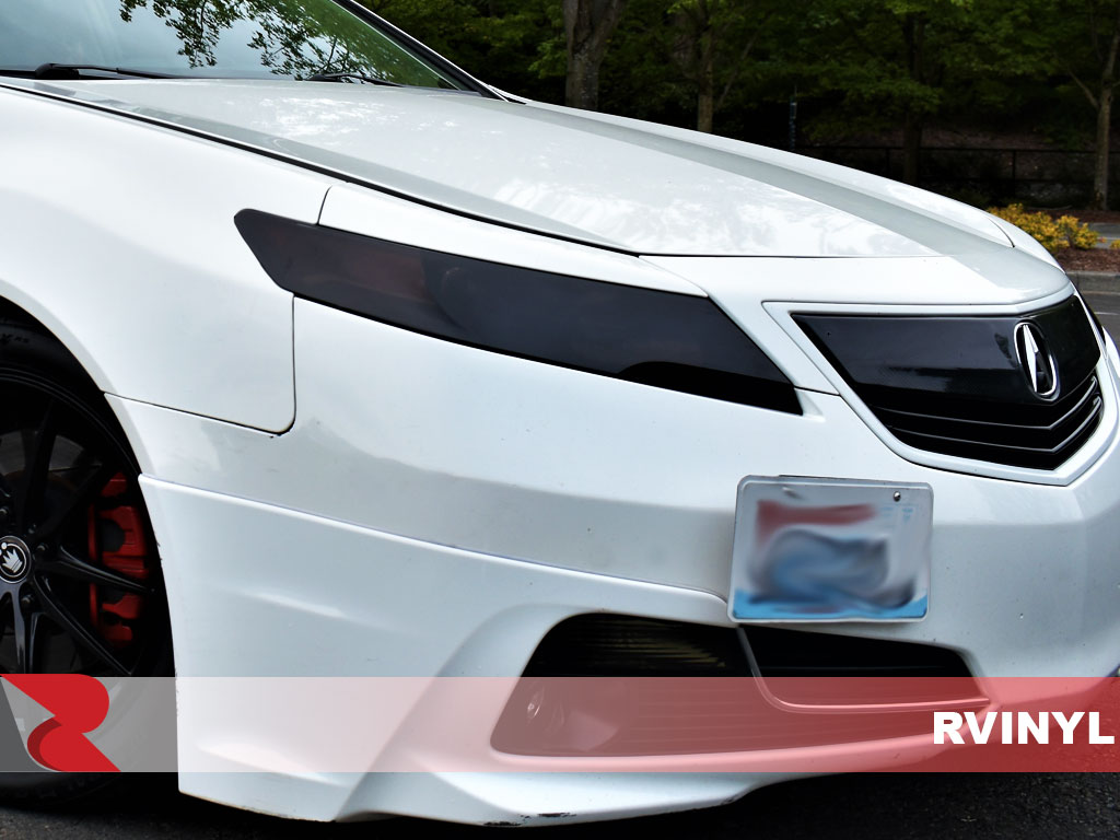 Rvinyl Rtint Headlight Tint Covers for Toyota Corolla 2014-2016 Blackout Smoke