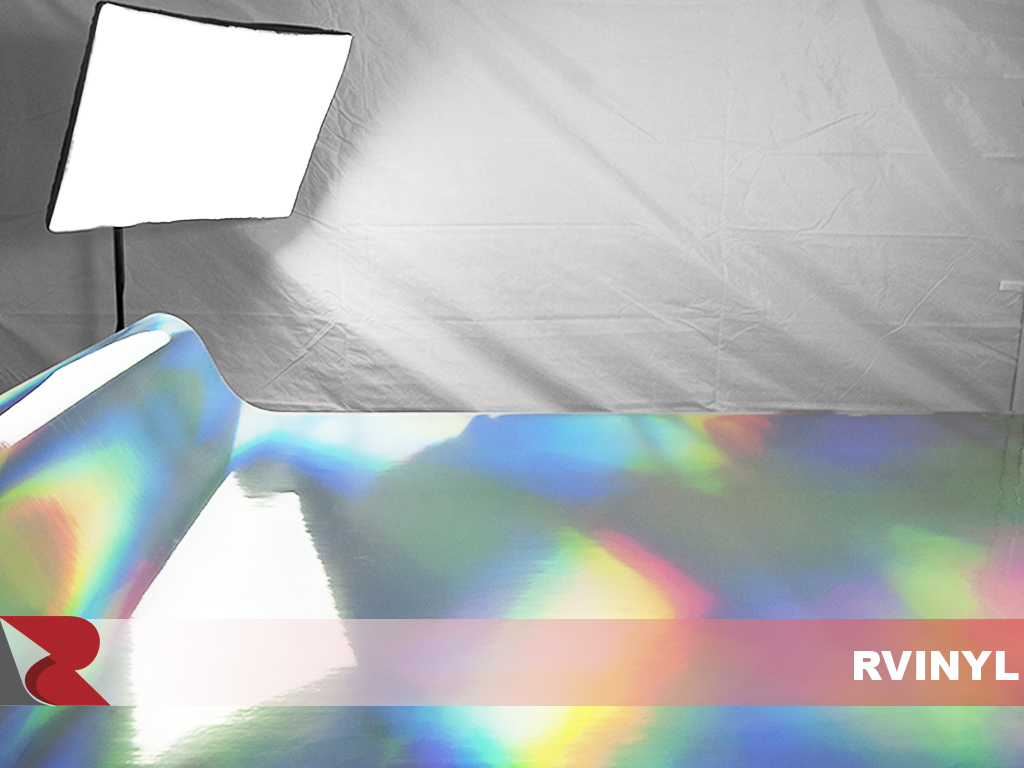 Silver Holographic Chrome Vinyl Photo Shoot