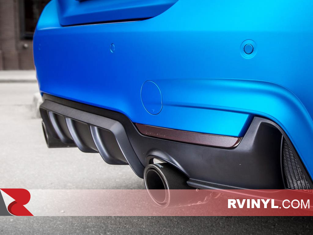 Rwraps Blue Matte Chrome Film with Air Egress Technology