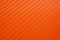 Orange 3D Carbon Fiber Vinyl Film Wraps