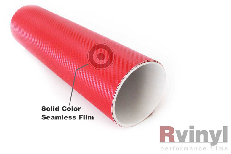 Red 3D Carbon Fiber Wrapping Films