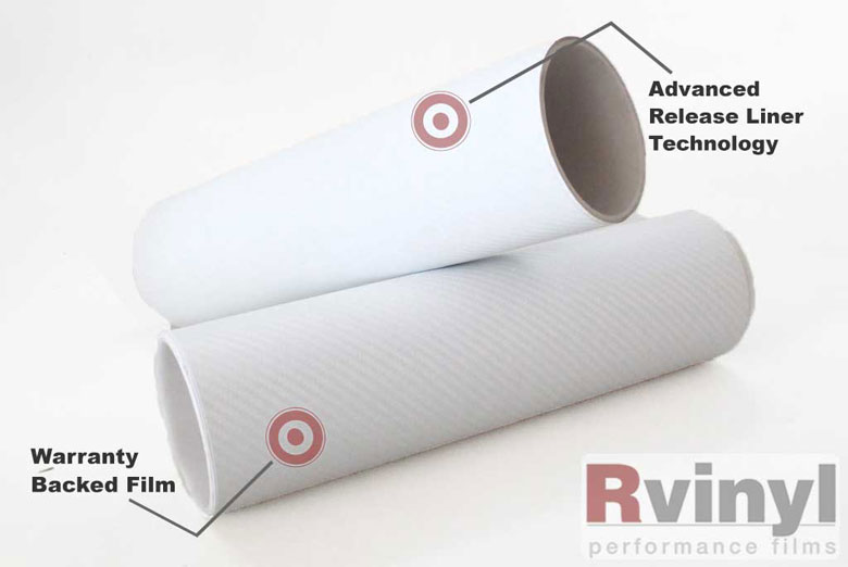 White 3D Carbon Fiber Wrapping Films