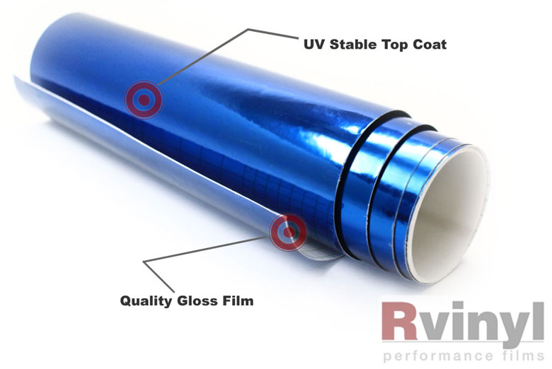 Blue Chrome Vinyl Sheets