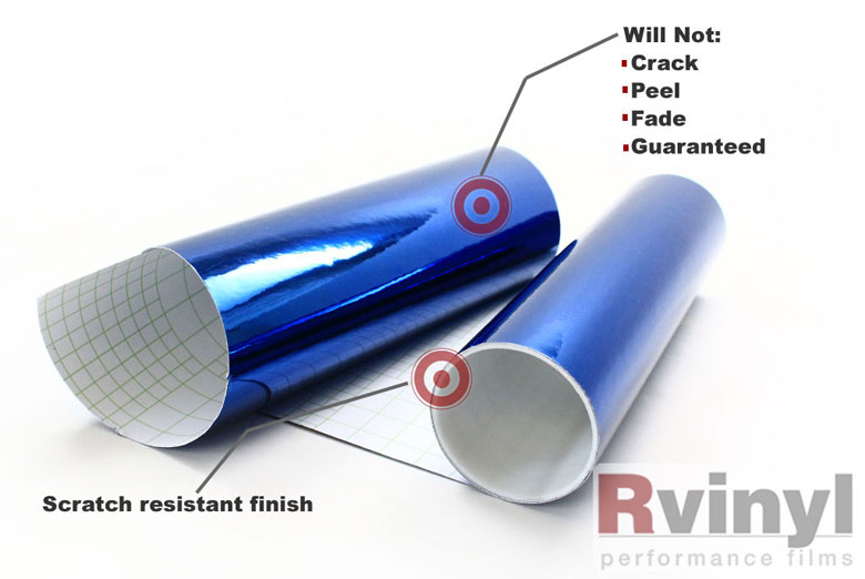Blue Chrome Decal Sheets