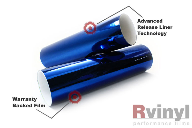 Blue Chrome Wrapping Films