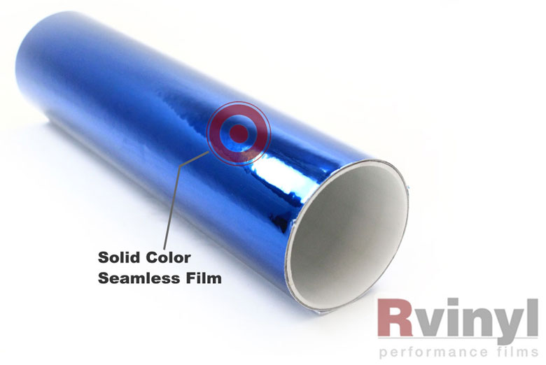 Blue Chrome Vinyl Rolls