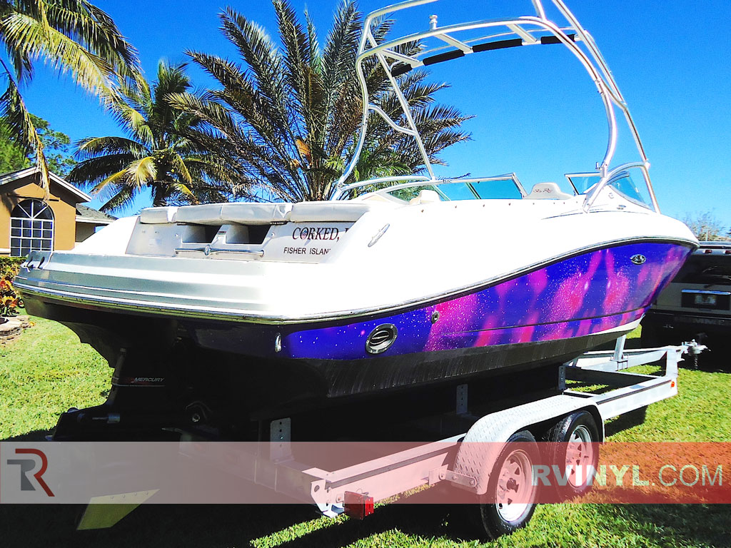 Rwraps? Galaxy Vinyl Film Wrap - Star Light - Sea Ray Boat Wraps