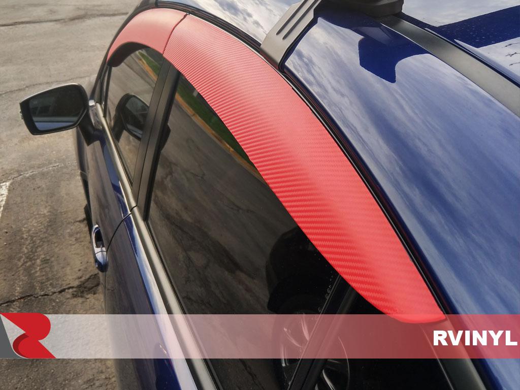 Rwraps™ 4D Carbon Fiber Vinyl Film Wrap - Red