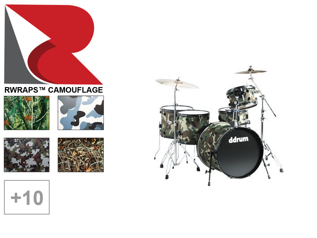 Rwraps™ Camouflage Drum Set Wrap
