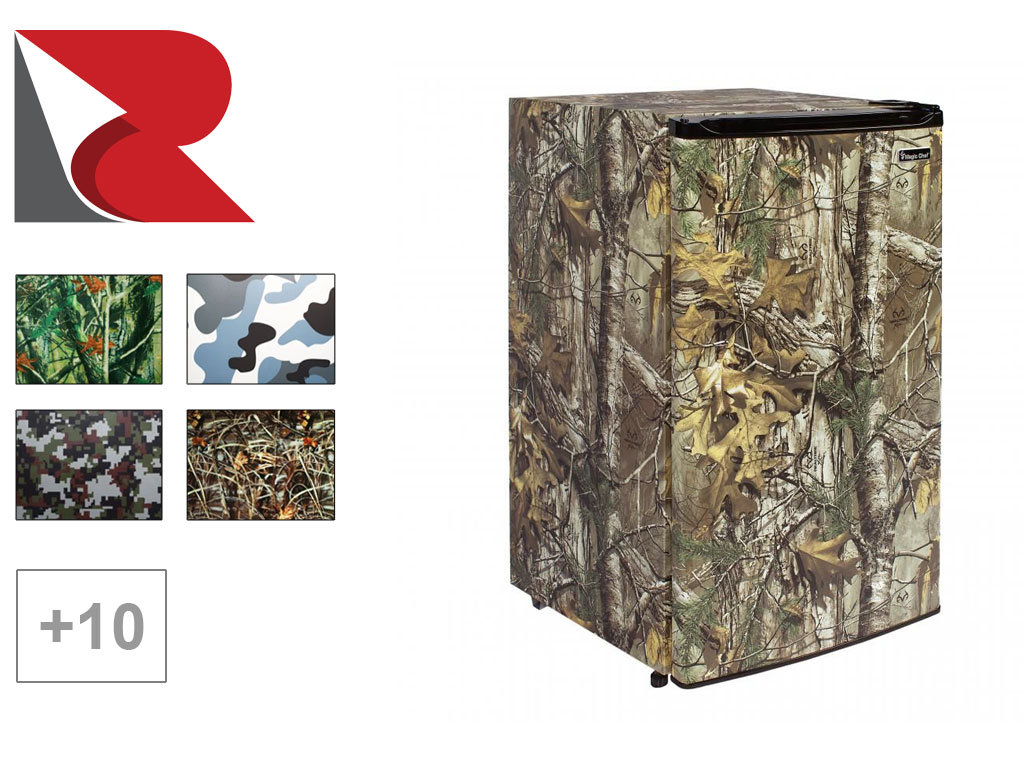 Camouflage Refrigerator Wrap