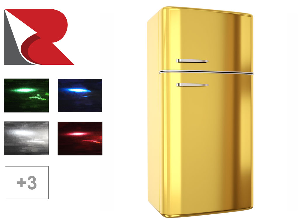 Rwraps™ Chrome Refrigerator Wraps