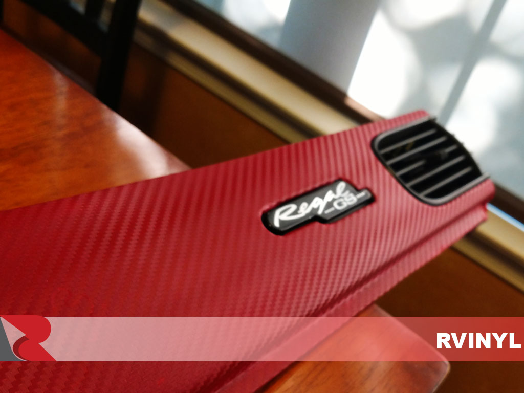 Custom 3D Carbon Fiber Red Dash Kit Vinyl Wrap for 1999 Buick Regal
