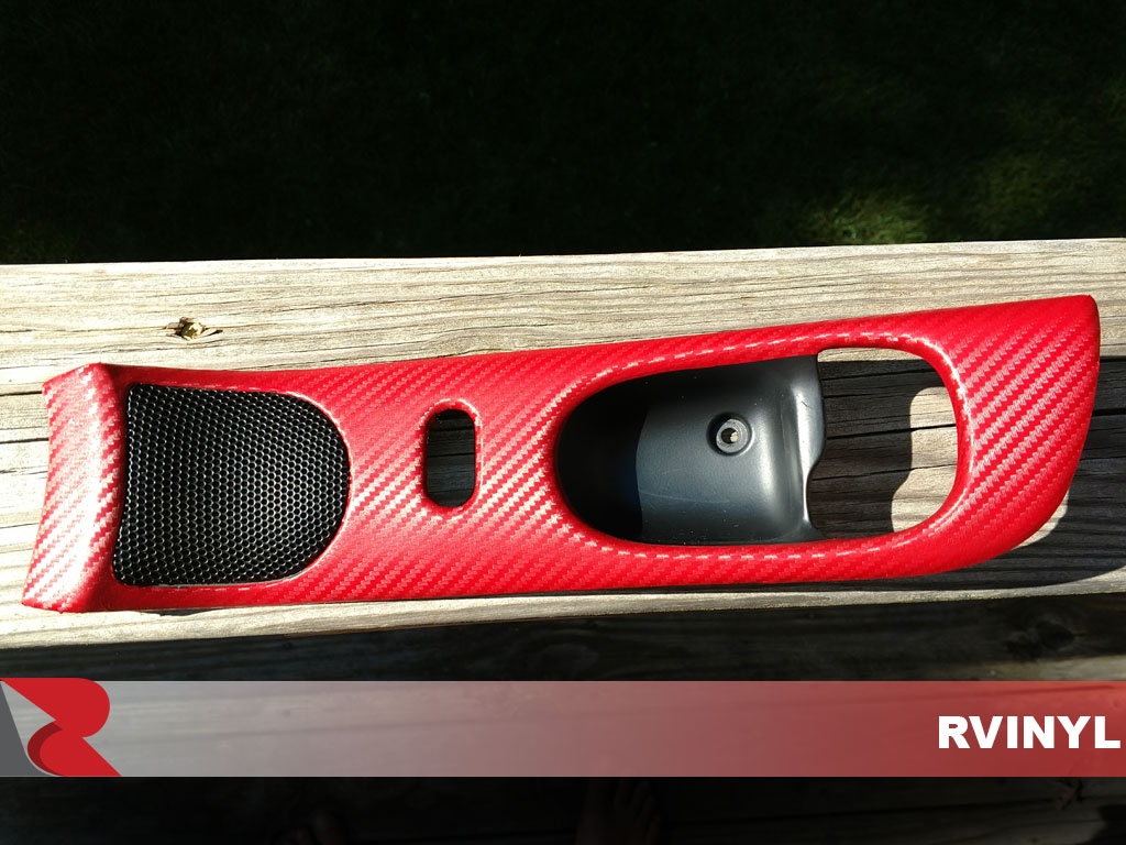 Custom 3D Rwraps Carbon Fiber Red Dash Kit Vinyl Wrap for Buick Regal