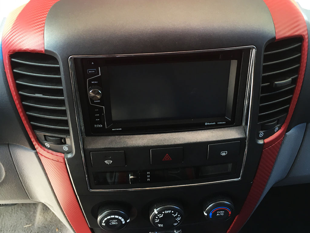 Rwraps 2008 Kia Sedona Center Console With 3D Red Carbon Fiber Dash Wrap