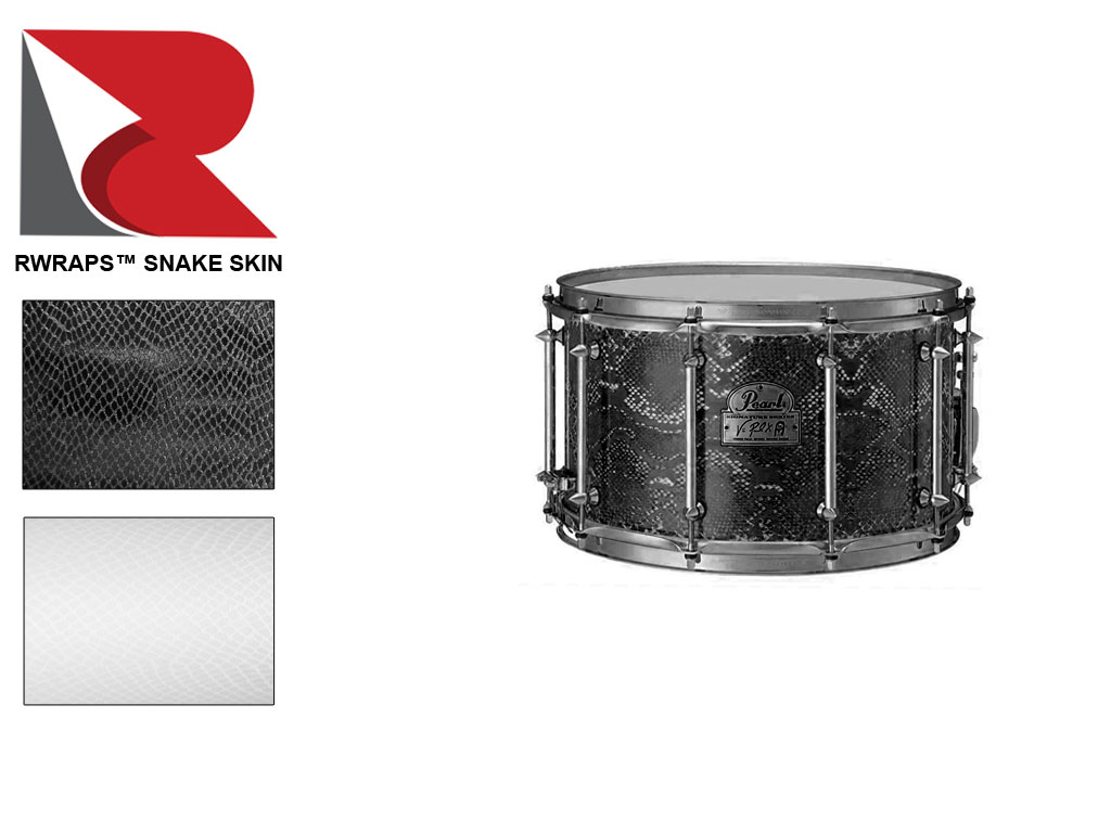 Rwraps™ Snakeskin Black Drum Wrap