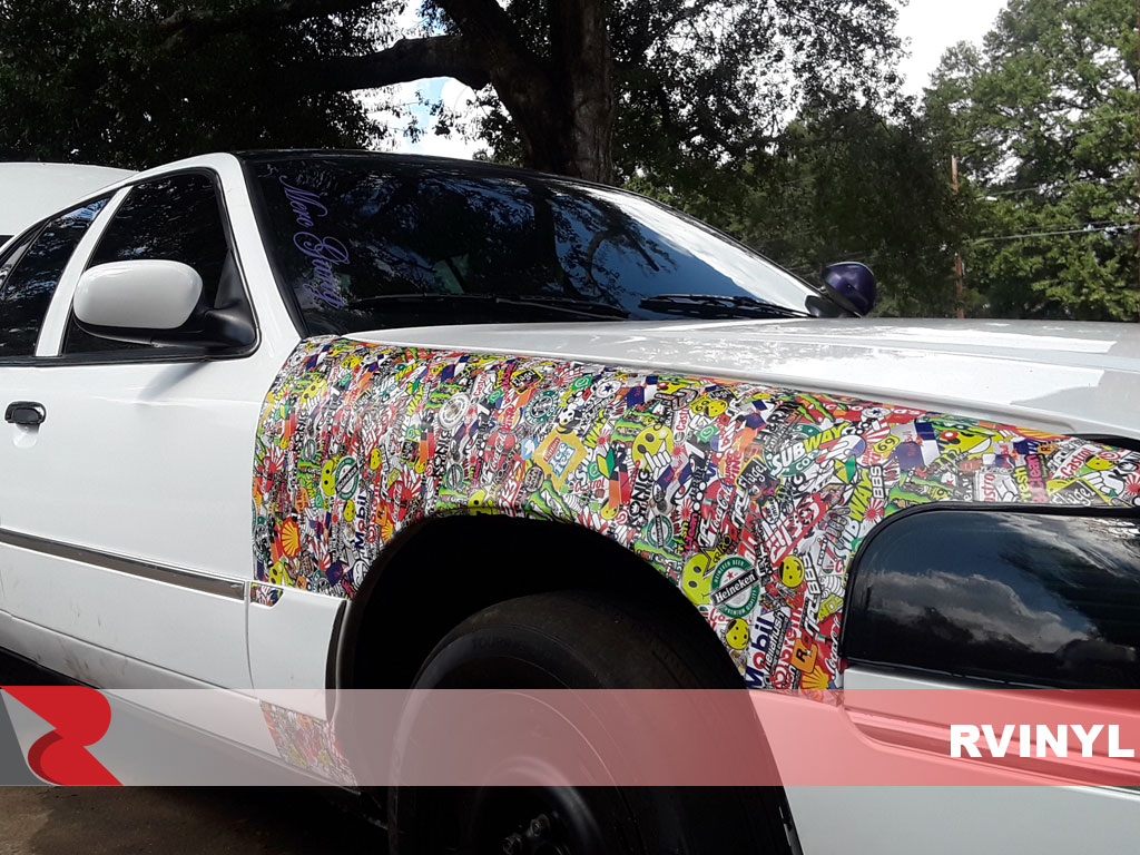 Rwraps shocker sticker bomb mercury marquis fender wrap