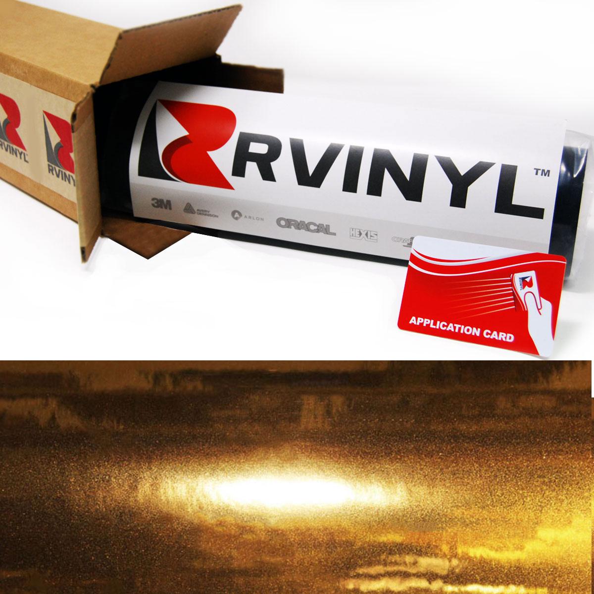 Rwraps™ Chrome Vinyl Film Wrap - Gold
