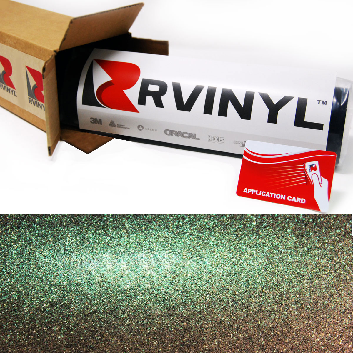 Green Sparkle Chameleon Vinyl Film Wrap