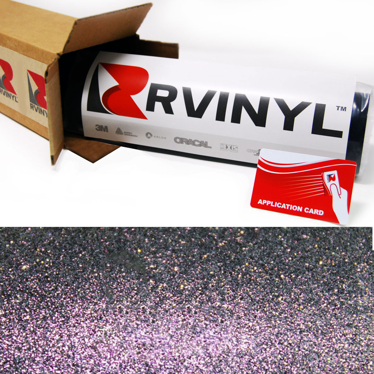 Purple Sparkle Chameleon Vinyl Film Wrap