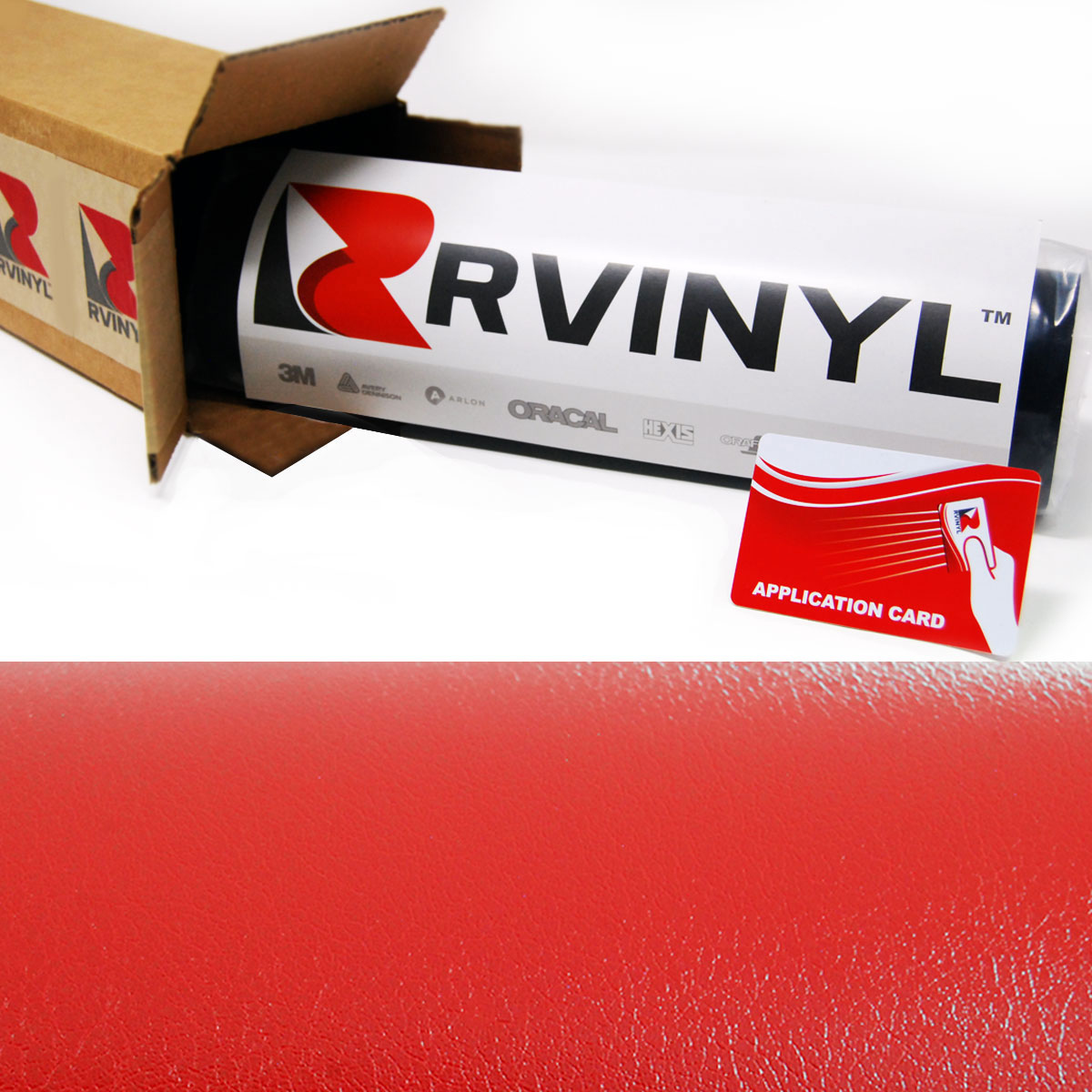 Red Leather Vinyl Film Wraps