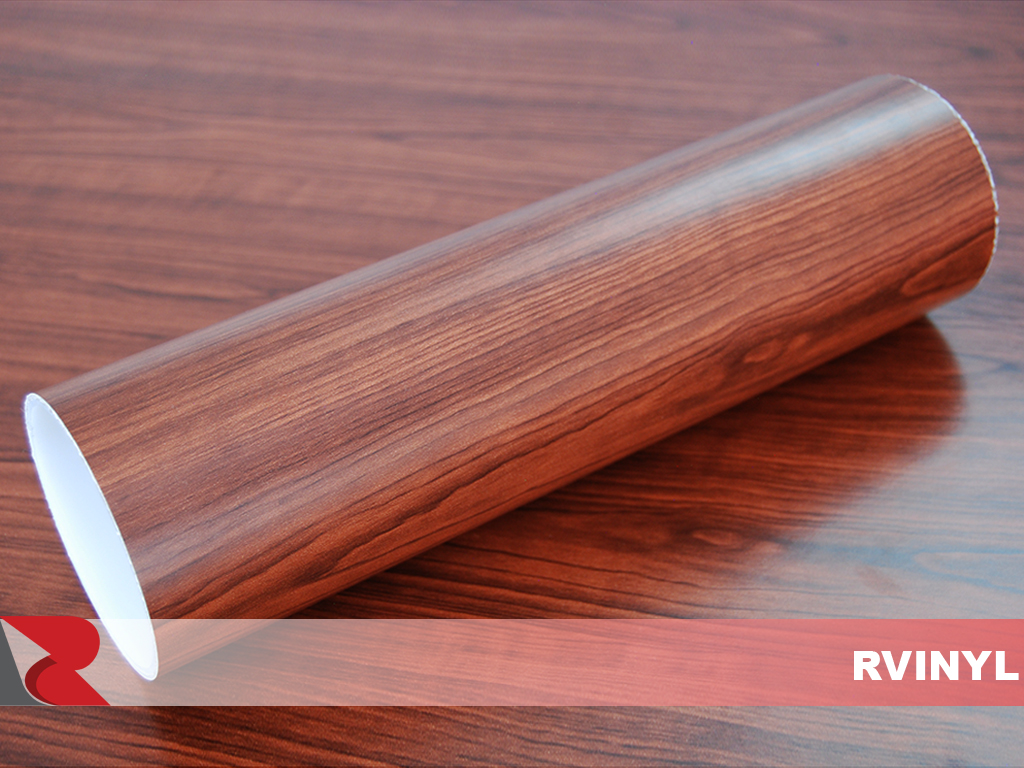 Cocoa Maple Wood Grain Vinyl Film