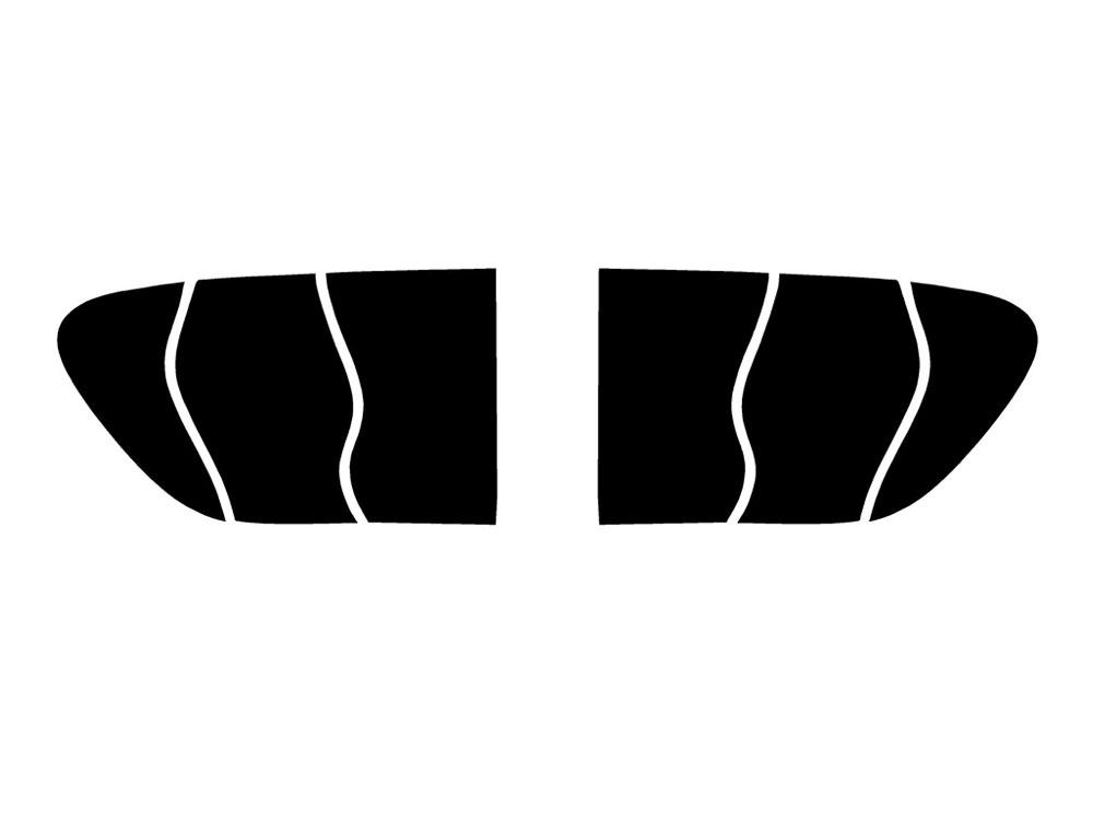 Blackout Smoke Rtint Tail Light Tint Covers for Porsche Cayenne 2015-2018
