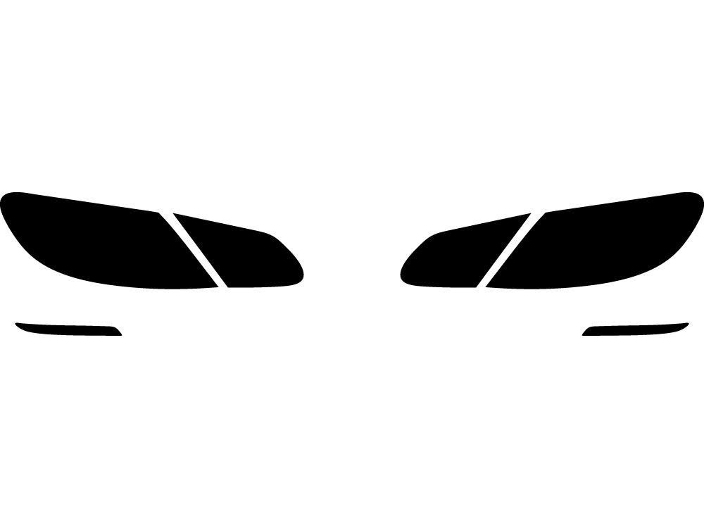 Application Kit Rvinyl Rtint Headlight Tint Covers for Volkswagen CC 2013-2017