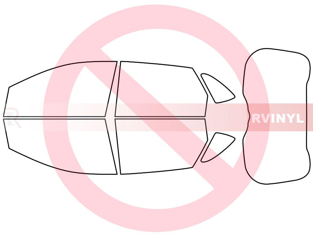 Rtint Ford Edge 2015 2018 Window Tint Kit Diy Precut Schematic No
