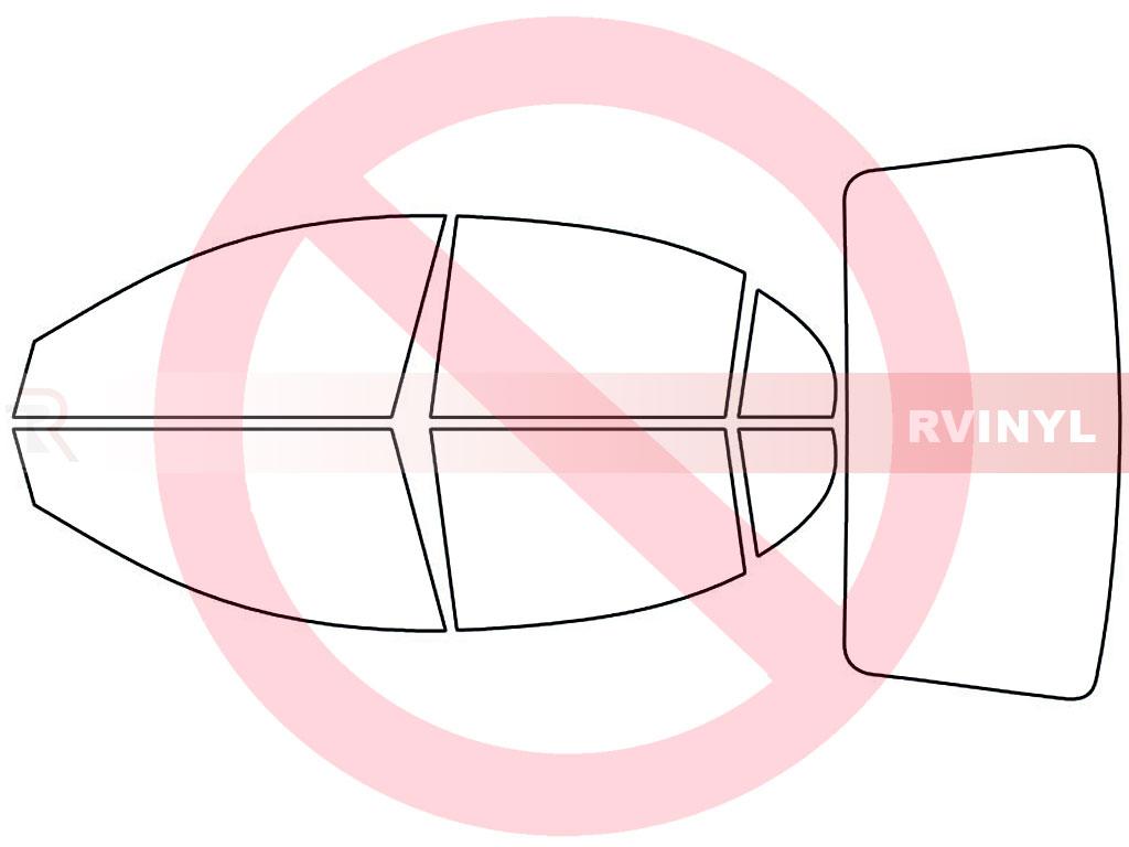 Kia Rio 2006 2011 Sedan No Window Tint Kit rtint™ kia rio 2006 2011 sedan window tint kit diy precut audi