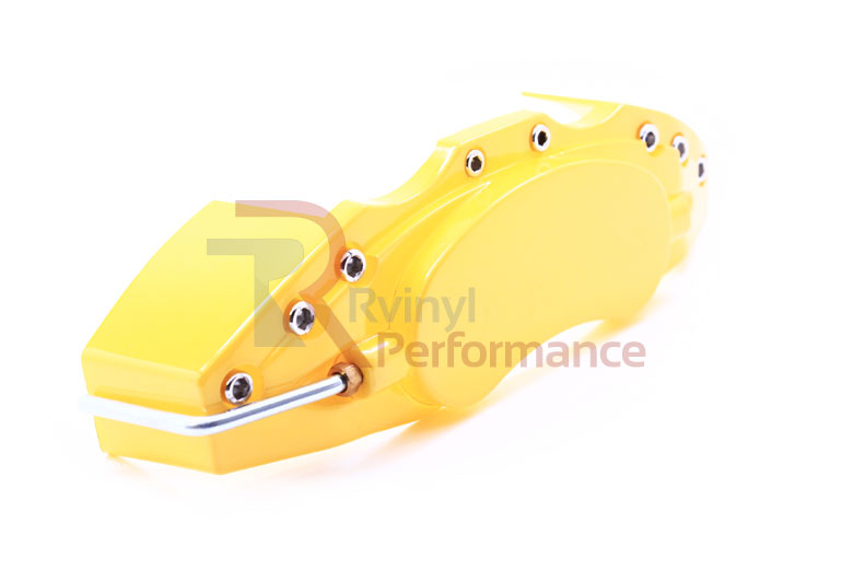 1999 Ford F-350 Yellow Caliper Covers