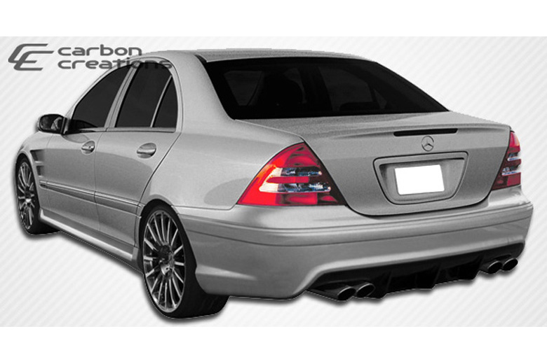 2001 Mercedes C-Class Carbon Creations Morello Edition Bumper (Rear)