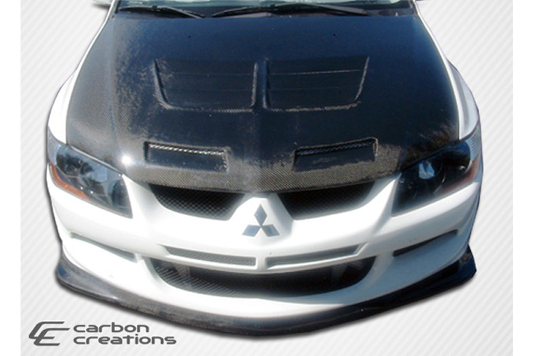 2005 Mitsubishi Lancer Carbon Creations Demon Front Lip (Add On)
