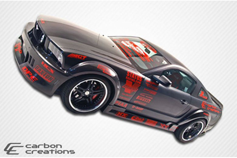 2013 Ford Mustang Carbon Creations Hot Wheels Sideskirts