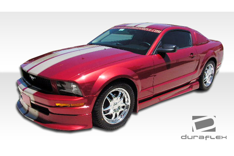 duraflex ford mustang 2005 2009 racer front lip add on. Black Bedroom Furniture Sets. Home Design Ideas