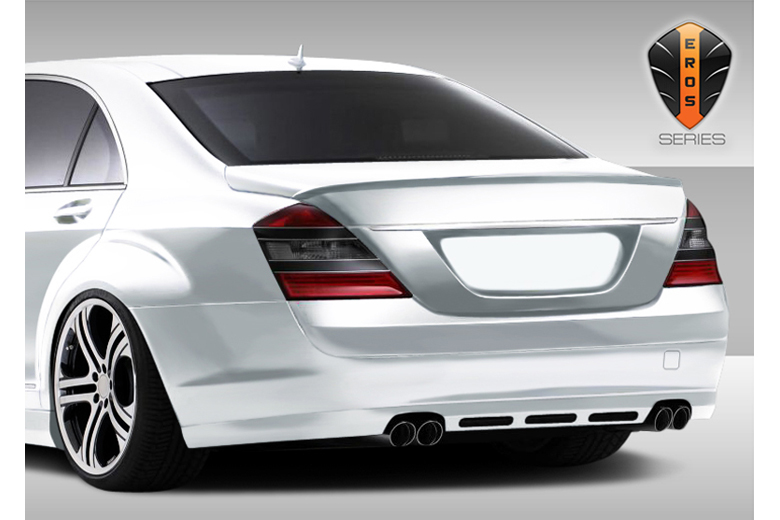 2010 Mercedes S-Class Duraflex Eros Version 1 Rear Lip (Add On)