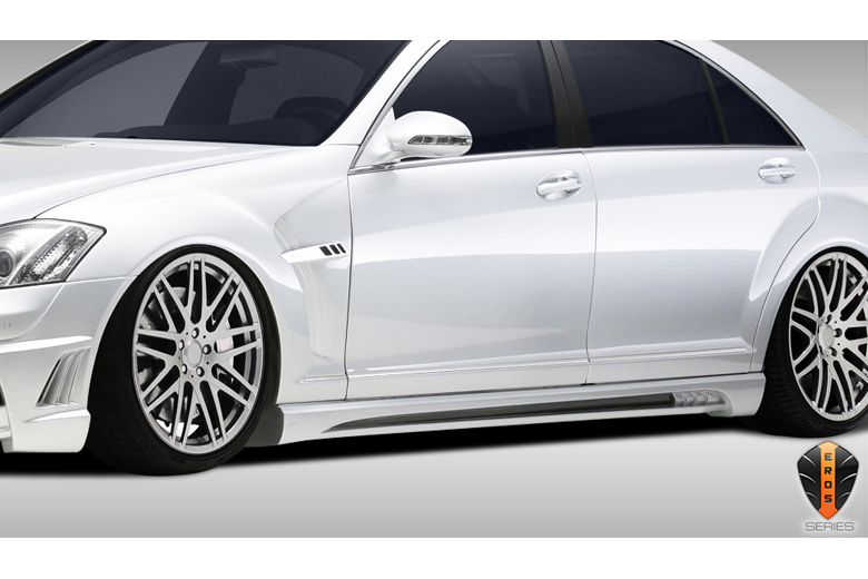 2010 Mercedes S-Class Duraflex Eros Version 2 Sideskirts