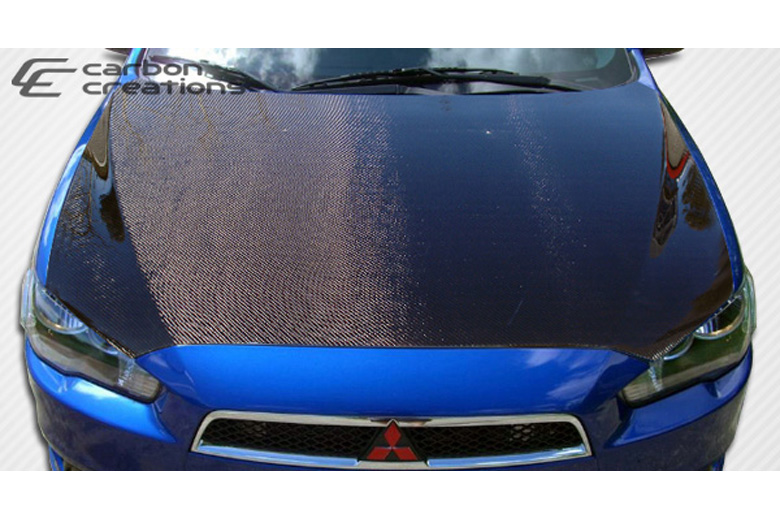 2012 Mitsubishi Lancer Carbon Creations Hood