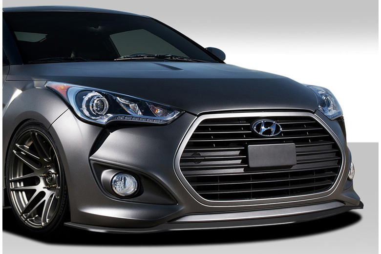 duraflex hyundai veloster 2012 2013 gt racing front lip. Black Bedroom Furniture Sets. Home Design Ideas