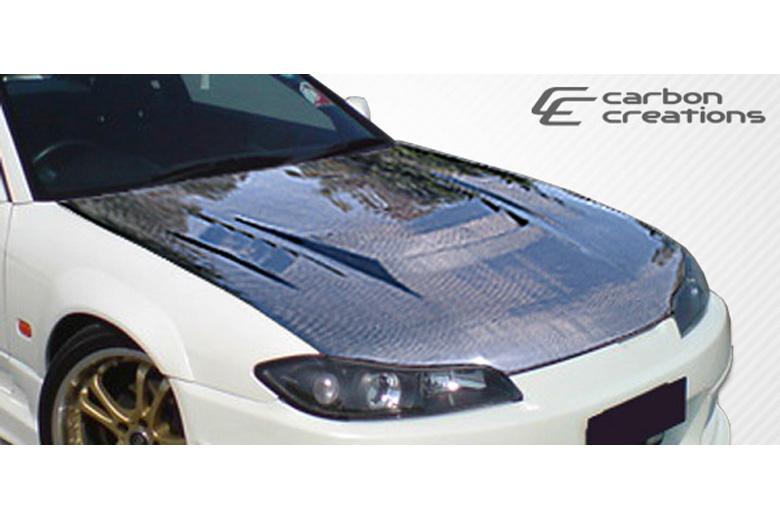 Carbon creations nissan 240sx 1999 2002 h sport hood 240sx carbon fiber interior