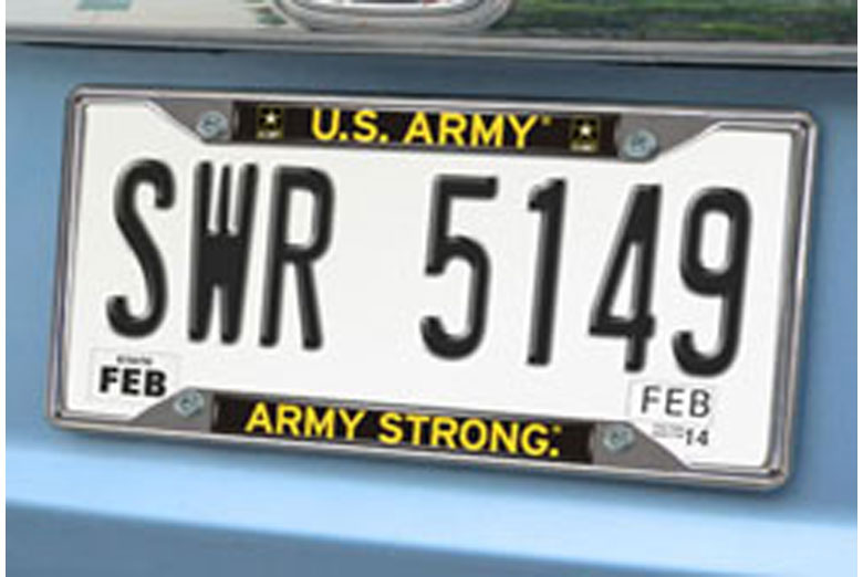 Military License Plate Frames