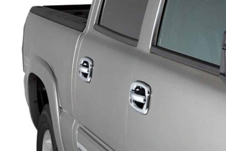 2003 GMC Sierra Chrome Door Handle Covers W/ Passenger Keyhole (4 Door)