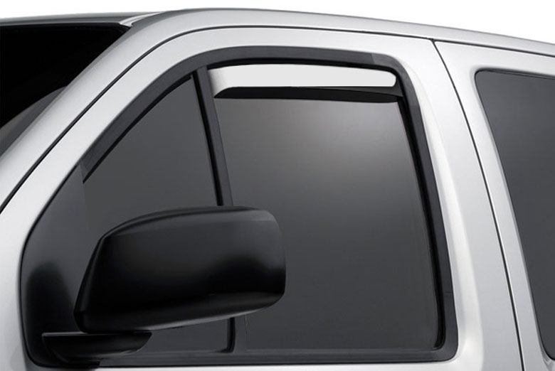 AVS Ventshade Stainless Window Visor Wind Deflectors (Regular Cab)