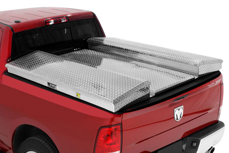 2002 Ford F-550 Contractor Box Diamond Plate Tonneau Cover System