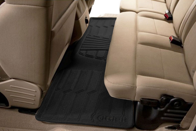 2006 Honda Odyssey Catch-It Black Carpet Rear Floor Mats W/ 2nd Row